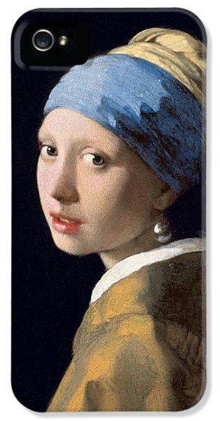 Girl With A Pearl Earring IPhone 5 Case by Jan Vermeer