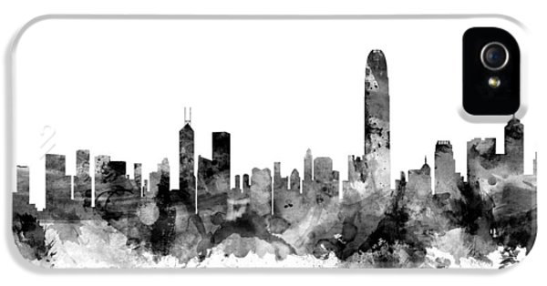 Hong Kong Skyline IPhone 5 Case by Michael Tompsett