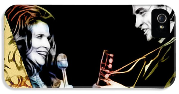 June Carter And Johnny Cash Collection IPhone 5 Case by Marvin Blaine