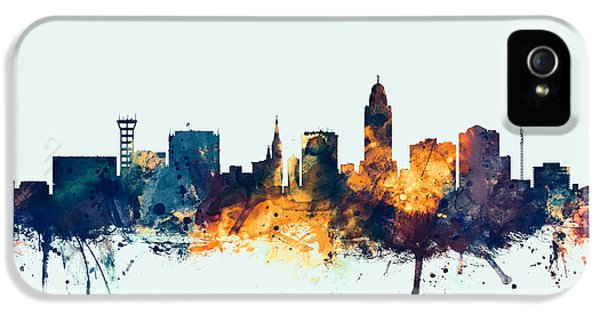 Nebraska iPhone 5 Case - Lincoln Nebraska Skyline by Michael Tompsett