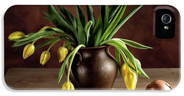Potato iPhone 5 Case - Still Life With Tulips by Nailia Schwarz