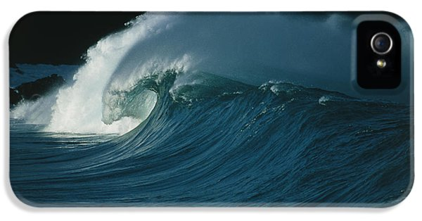 Wind-blown Wave Breaking In Hawaii IPhone 5 Case by G. Brad Lewis
