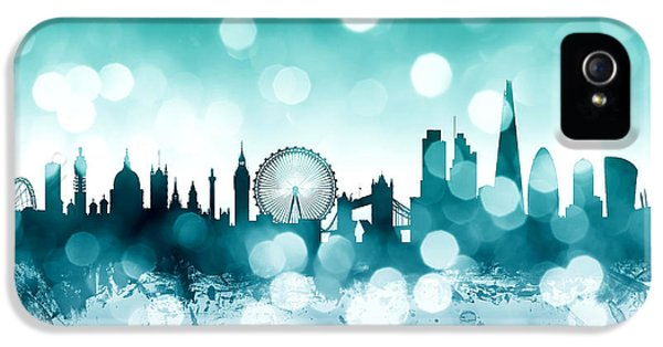 London Skyline iPhone 5 Case - London England Skyline by Michael Tompsett