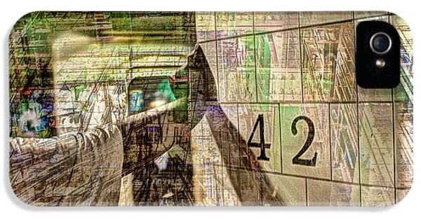 42nd Subway Collage IPhone 5 Case by Dave Beckerman