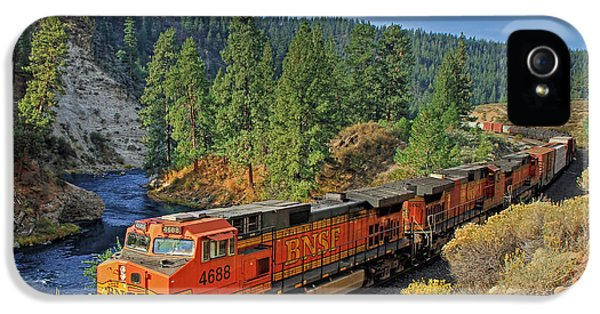 Train iPhone 5 Case - 4688 by Donna Kennedy