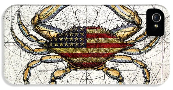 4th Of July Crab IPhone 5 Case by Charles Harden