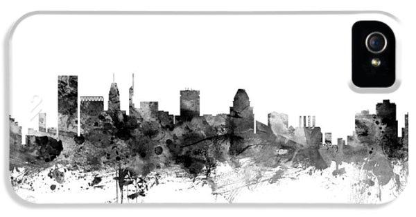 Baltimore Maryland Skyline IPhone 5 Case by Michael Tompsett