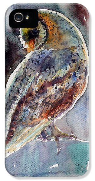 Owl iPhone 5 Case - Barn Owl by Kovacs Anna Brigitta