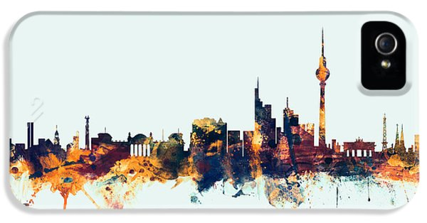 Berlin Germany Skyline IPhone 5 Case by Michael Tompsett