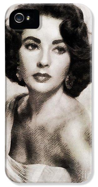 Elizabeth Taylor, Vintage Hollywood Legend IPhone 5 Case by John Springfield