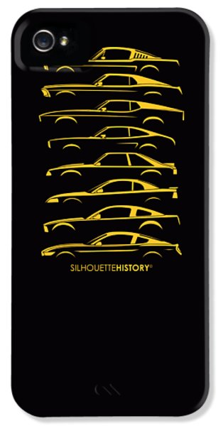 Ford Mustang Silhouettehistory IPhone 5 Case