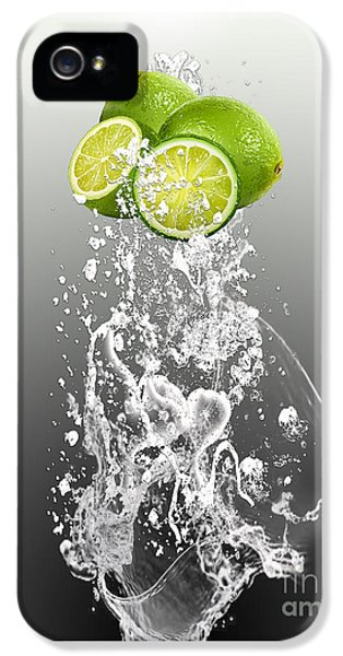 Lime Splash IPhone 5 Case by Marvin Blaine