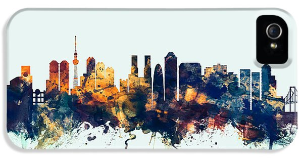 Tokyo Japan Skyline IPhone 5 Case by Michael Tompsett