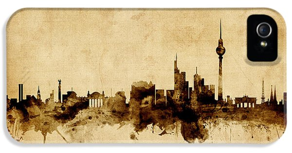 Berlin Germany Skyline IPhone 5 Case by Michael Tompsett