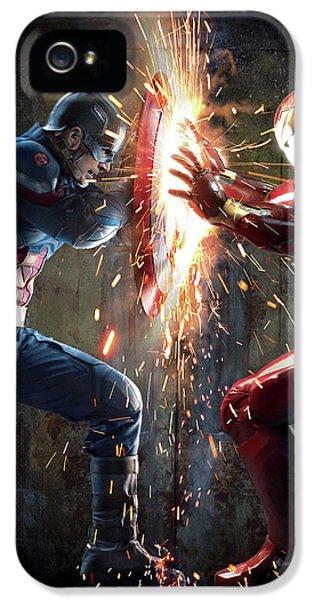 Captain America Civil War 2016 IPhone 5 Case by Caio Caldas