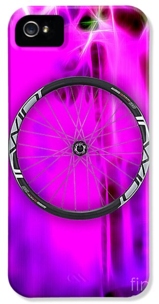 Carbon Fiber Bicycle Wheel Collection IPhone 5 Case by Marvin Blaine