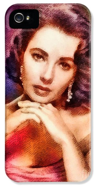 Elizabeth Taylor, Vintage Hollywood Legend IPhone 5 Case