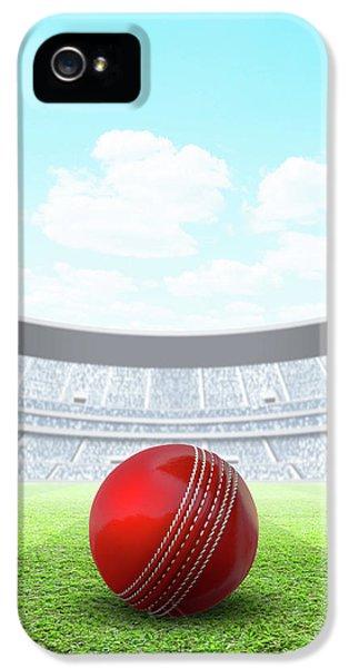 Cricket iPhone 5 Case - Floodlit Stadium Day by Allan Swart