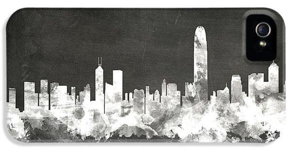 Hong Kong Skyline IPhone 5 Case by Michael Tompsett