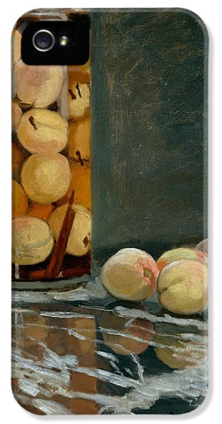 Jar Of Peaches IPhone 5 Case by Claude Monet