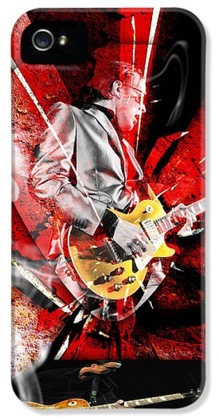 Joe Bonamassa Blues Guitarist Art. IPhone 5 Case