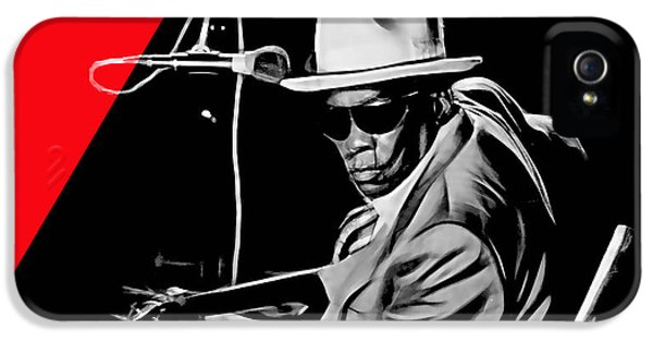 Guitar iPhone 5 Case - John Lee Hooker Collection by Marvin Blaine