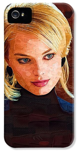 Margot Robbie Painting IPhone 5 Case