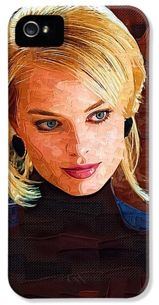 Margot Robbie Painting IPhone 5 / 5s Case by Best Actors