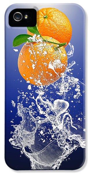Orange Splash IPhone 5 Case by Marvin Blaine