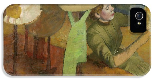 The Millinery Shop IPhone 5 Case by Edgar Degas