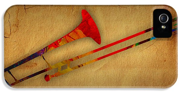 Trombone Collection IPhone 5 Case by Marvin Blaine