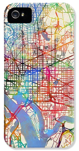 Washington Dc Street Map IPhone 5 Case