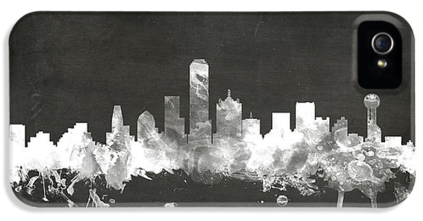 Dallas Texas Skyline IPhone 5 Case by Michael Tompsett