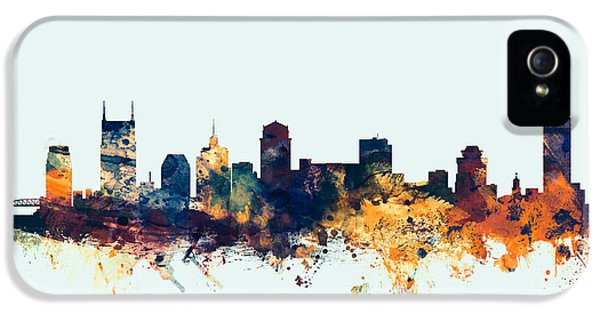 Nashville Tennessee Skyline IPhone 5 Case by Michael Tompsett