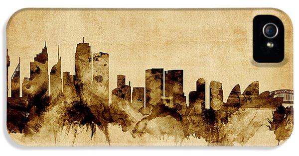 Sydney Australia Skyline IPhone 5 Case by Michael Tompsett