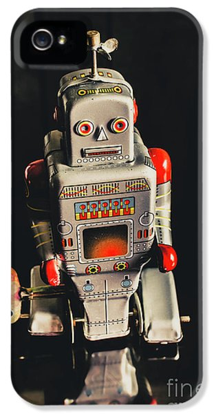 70s Mechanical Android Bot  IPhone 5 Case by Jorgo Photography - Wall Art Gallery