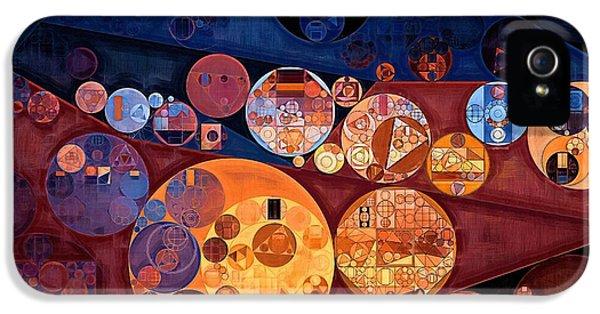 Abstract Painting - Seal Brown IPhone 5 Case by Vitaliy Gladkiy