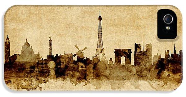 Paris France Skyline IPhone 5 / 5s Case by Michael Tompsett
