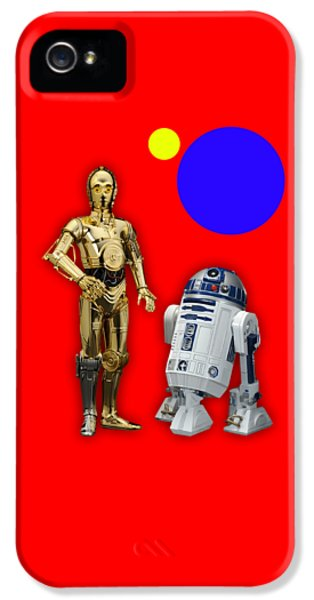 Star Wars C3po And R2d2 Collection IPhone 5 Case by Marvin Blaine