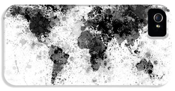 World Map Paint Splashes IPhone 5 Case