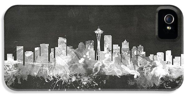 Seattle Washington Skyline IPhone 5 / 5s Case by Michael Tompsett