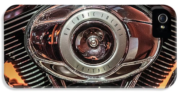 IPhone 5 Case featuring the photograph 96 Cubic Inches Softail by Randy Scherkenbach