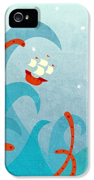Boat iPhone 5 Case - A Bad Day For Sailors by Nic Squirrell
