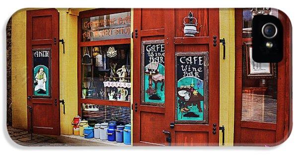 A Charming Little Store In Bratislava IPhone 5 Case by Carol Japp
