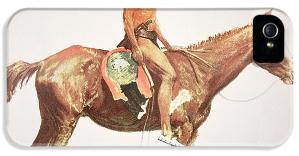 Horse iPhone 5 Case - A Cheyenne Brave by Frederic Remington