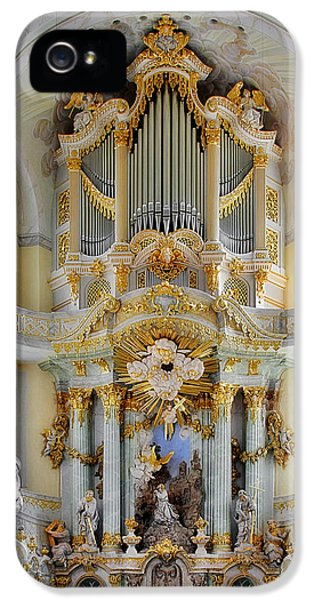 Organ iPhone 5 Cases - A church filled with music - Church of Our Lady Dresden iPhone 5 Case by Christine Till