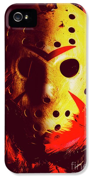 Hockey iPhone 5 Case - A Cinematic Nightmare by Jorgo Photography - Wall Art Gallery