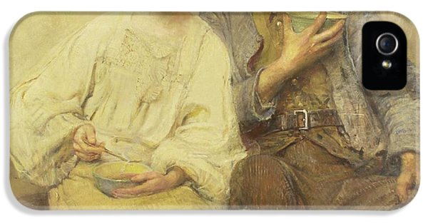 A Dinner Of Herbs  IPhone 5 Case by George William Joy
