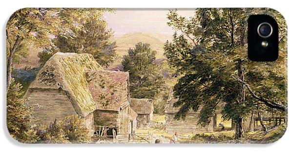 A Farmyard Near Princes Risborough IPhone 5 Case by Samuel Palmer