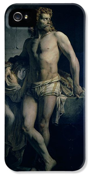 Dungeon iPhone 5 Case - A Gaul And His Daughter Imprisoned In Rome by Felix-Joseph Barrias
